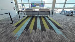 beautiful flooring in MIA Terminal J
