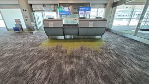 renewed flooring in terminal J MIA